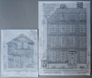 Dr Johnson's House and the Curator's Cottage; working drawings for portraits