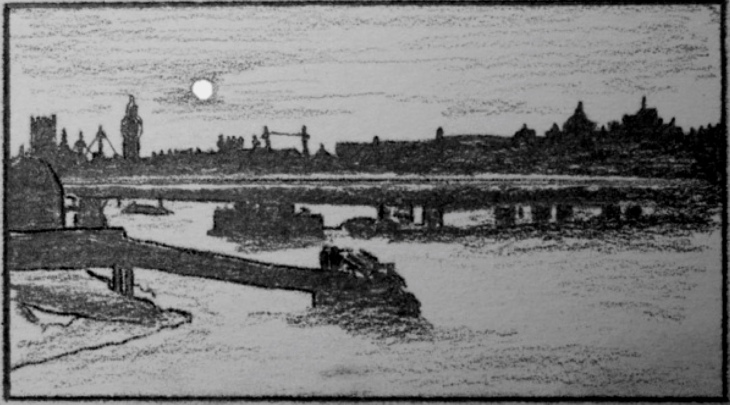 Waterloo Bridge moon: Panufnik