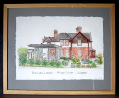 40. West View Drawing framed