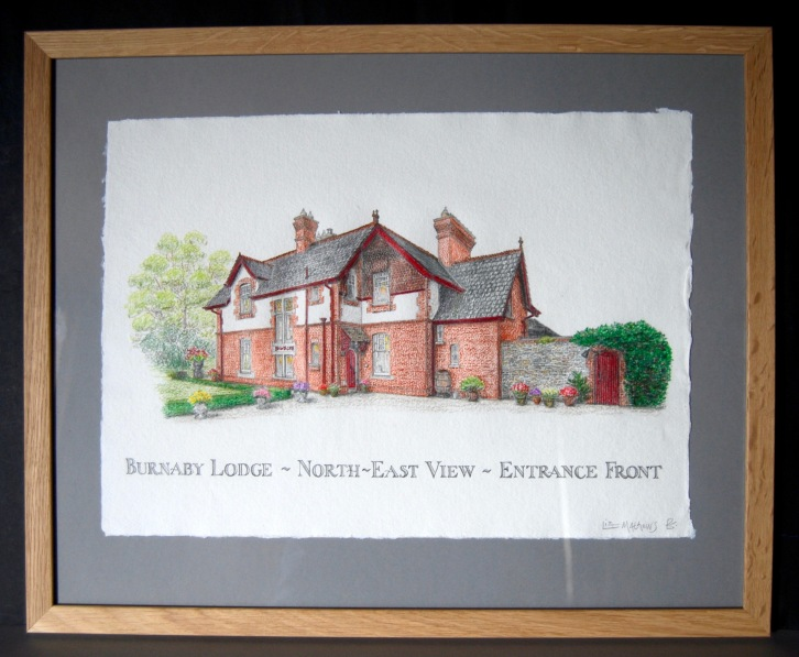 41. North-East drawing framed